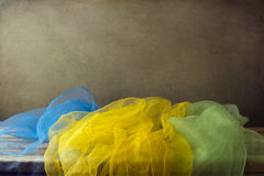Background with colorful gauze scarf Royalty Free Stock Photos
