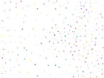Background with colorful glitter, confetti. Polka dots, circles, rounds. Fiesta pattern. Vector illustration. Background with colorful glitter, confetti. Polka Stock Photography