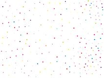 Background with colorful glitter, confetti. Polka dots, circles, rounds. Fiesta pattern. Vector illustration. Background with colorful glitter, confetti. Polka Royalty Free Stock Photography