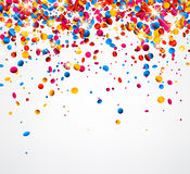 Background with colorful glossy confetti. Festive white background with colorful glossy confetti. Vector illustration Stock Image
