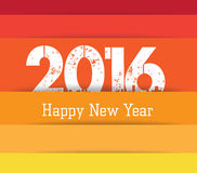 2016 background colorful. greeting card.  Royalty Free Stock Image