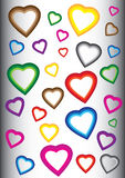 Background with colorful hearts Royalty Free Stock Photography