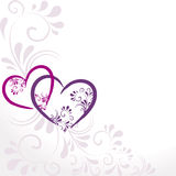 Background with colorful hearts Stock Photography