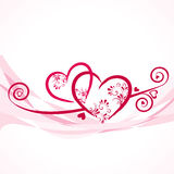 Background with colorful hearts Stock Photos