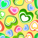 Background with colorful hearts Royalty Free Stock Images