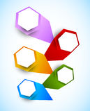 Background with colorful hexagons. Abstract bright illustration royalty free illustration