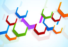 Background with colorful hexagons Stock Images