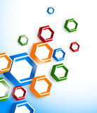 Background with colorful hexagons Stock Photography