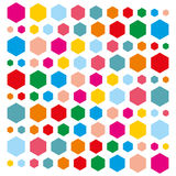 Background of colorful hexagons. Hexagons of different colors. Vector illustration Stock Images