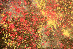Background of colorful Holi powder lying scattered on the ground Royalty Free Stock Photos