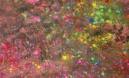 Background of colorful Holi powder Stock Photo