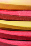 Background of colorful kayaks Royalty Free Stock Image