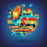 Background of colorful lines in the shape of balls Royalty Free Stock Photo