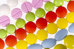 Background of colorful medical pills Stock Photography