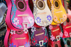 Background of colorful mexican guitars Royalty Free Stock Photo