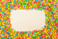 Background of colorful mini chewing gums Stock Photos