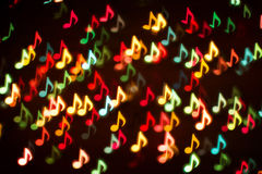 Background of colorful music notes Stock Images