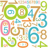 Background with colorful numbers Royalty Free Stock Photos