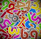 Background with colorful numbers of paper Stock Image
