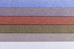Background of colorful paper  parallel horizontal shiny stripes Royalty Free Stock Images