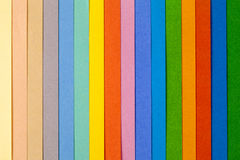 Background of colorful paper  parallel vertical stripes.  Royalty Free Stock Photos