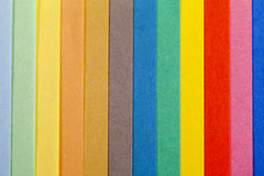 Background of colorful paper  parallel  vertical stripes Stock Images