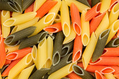 Background of colorful pasta as texture Stock Photo