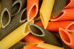 Background of colorful pasta Stock Photos