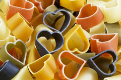 Background of colorful pasta Royalty Free Stock Image