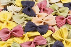 Background of colorful pasta Royalty Free Stock Images