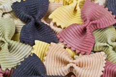 Background of colorful pasta Stock Photography