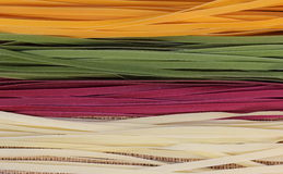 Background of colorful pasta Stock Photo