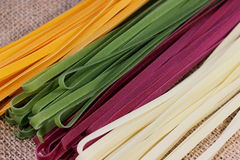 Background of colorful pasta Royalty Free Stock Photo