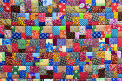 Background of colorful patchwork fabrics.  royalty free stock image