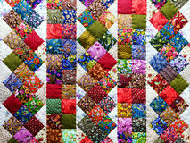 Background of colorful patchwork fabrics Royalty Free Stock Image