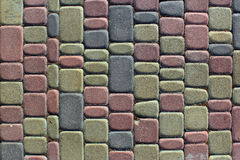 Background of colorful paving slabs close up.  Stock Images