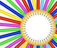 Background with colorful pencils Stock Photos