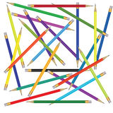 Background with colorful pencils. Colorful pencils on white background Stock Illustration