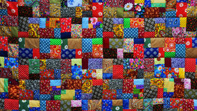 Background of colorful pieces of fabric Stock Photo