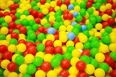 Background of colorful plastic balls Royalty Free Stock Images