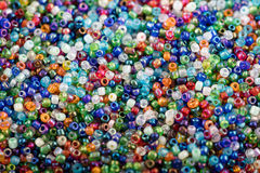 Background of colorful plastic beads Stock Photography