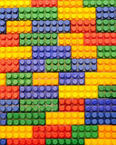 Background, colorful plastic building blocks Royalty Free Stock Image