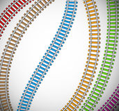 Background with colorful rails Stock Images