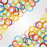 Background with colorful rings. On white stock illustration