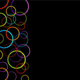 Background with colorful rings. On white royalty free illustration