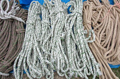 Background of colorful ropes Royalty Free Stock Photos
