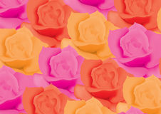 Background with colorful roses Royalty Free Stock Image