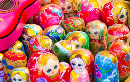 Background colorful Russian dolls Royalty Free Stock Photography