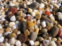 Background from colorful sea pebbles. Pebbles illuminated by sun Royalty Free Stock Image