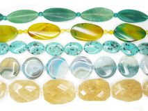 Background of colorful semigem beads Royalty Free Stock Images